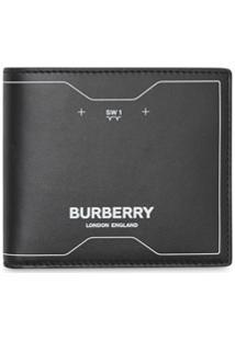 Burberry Carteira Com Estampa De Simbolo - Preto