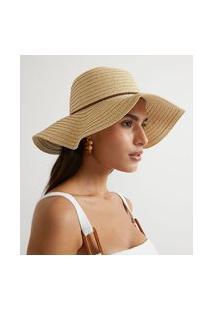 Chapéu De Praia Básico Com Cordão Fake Suede Trançado | Bossa Nossa | Bege | U