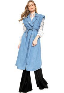 Colete Jeans Colcci Loose Azul