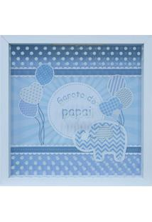 Quadro Decorativo Infantil Celebrattions Branco E Azul (27X27)