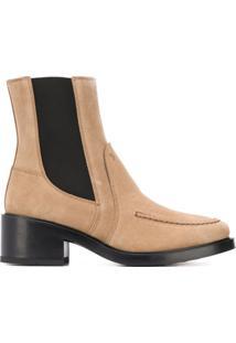 Tod'S Block Heel Ankle Boots - Neutro