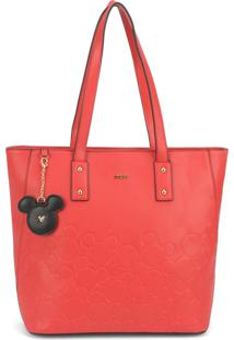Bolsa Lateral Luxcel Mickey Mouse Vermelha