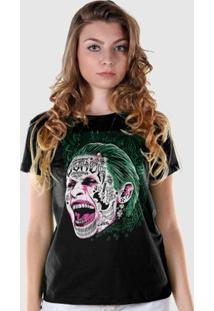 Camiseta Dc Comics Bandup! Esquadrão Suicida The Joker Prince Of Crime - Feminino-Preto