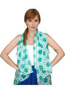 Colete Coleteria Multifuncional Lenço Blusa Ou Saia Verde