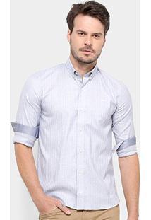 Camisa Lacoste Masculina - Masculino-Cinza