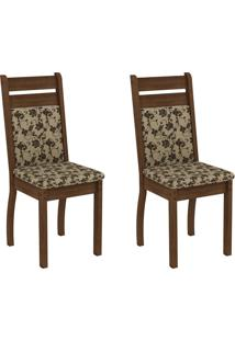 Kit 2 Cadeira 4237X Marrom - Madesa
