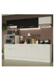 Cozinha Completa Madesa Onix 240002 Com Armário E Balcão - Branco/Preto 0973