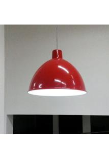 Pendente Taschibra Design Td 822 48Cm X 48Cm X 38Cm Vermelho
