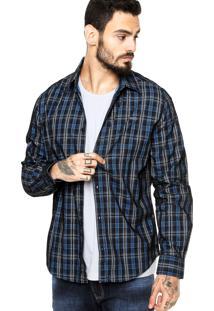 Camisa Manga Longa Colcci Tag Azul