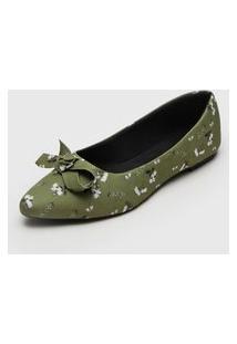 Sapatilha Fiveblu Floral Verde