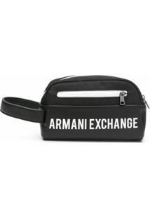 Armani Exchange Necessaire Com Logo - Preto