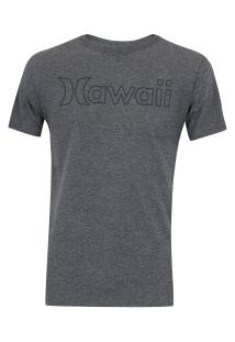 Camiseta Hurley Silk Hawaii Outline - Masculina - Cinza
