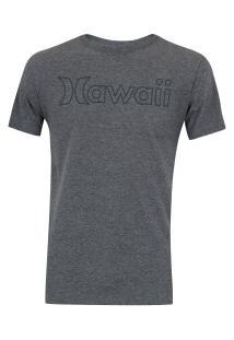 Camiseta Hurley Silk Hawaii Outline - Masculina - Cinza