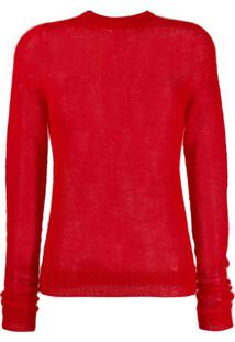 Rick Owens Round Neck Sweater - Vermelho