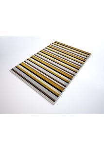 Tapete Saturs Moderno Listrado Marrom 140 X 200 Cm Tapete Para Sala E Quarto
