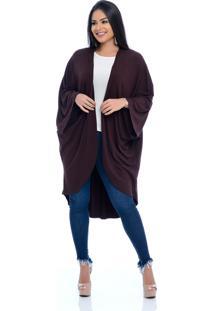 Cardigan Kimono B'Bonnie Esther Marrom - Tricae