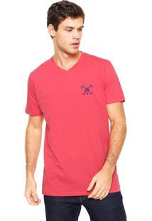 Camiseta Polo Play Bordado Rosa