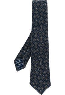 Kiton Gravata Com Textura - Cinza