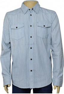 Camisa Masc Cavalera Clothing 02.01.1237 Azul Listrado
