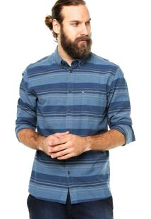 Camisa Manga Longa Quiksilver Listrada Azul