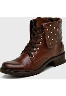 Bota Feminina Cano Curto Café Em Couro Atron Shoes - Tricae