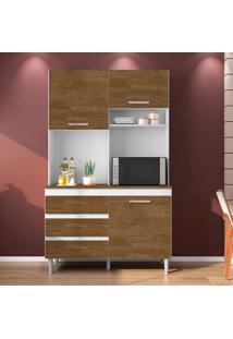 Cozinha Compacta Smart 3 Pt 3 Gv Branca E Marrom