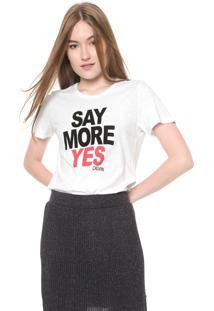 Camiseta Calvin Klein Jeans Say More Yes Branca