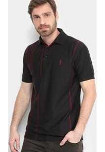 Camisa Polo Aleatory Malha Estampada Masculina - Masculino