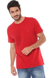 Camiseta Aramis Estampada Vermelha