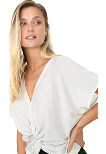 Blusa Enfim Metalizada Off-White