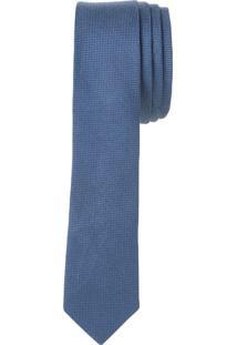 Gravata Steel Micro Maquinado Rustico - Azul Médio - U