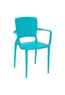 Cadeira Tramontina 92049070 Safira Suma Com Braços Azul