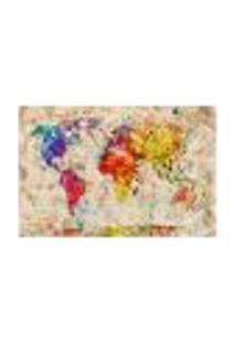Painel Adesivo De Parede - Mapa Mundi - Mundo - 941Pnm