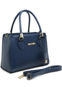 Bolsa Gouveia Costa Tote-Shopper Casual Alça Mão Zíper Dia A Dia Azul Marinho