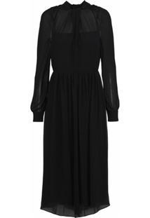 Prada Vestido De Crepe - Preto