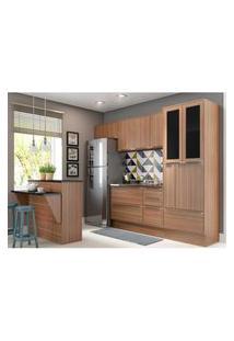 Cozinha Completa Multimóveis Com 6 Peças Calábria 5463R Nogueira