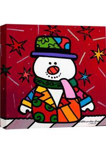 Quadro Impressão Digital Boneco Neve Pop-Art Vermelho 30X30Cm Uniart