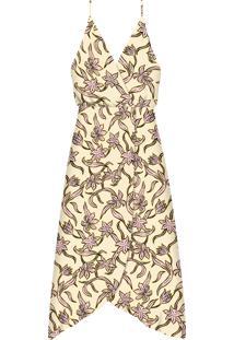 Vestido Mídi Com Alças Estampa Muchacha - Lez A Lez