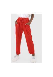 Calça Calvin Klein Slim Amarração Vermelha