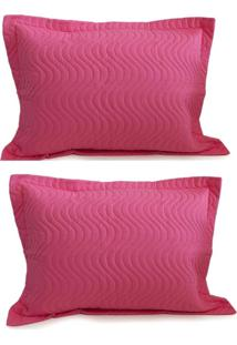 Kit Porta Travesseiro 2 Peças Matelassê 80X60 - Appel - Pink