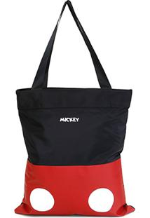 Bolsa Gash Shopper Mickey Listrada Feminina - Feminino-Vermelho