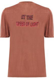 Camiseta Feminina Hire - Marrom