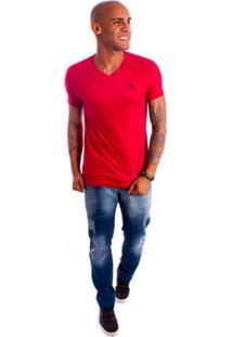 Camisa Rockstar Cavalo Pequeno Vermelho