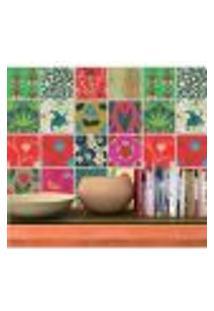 Adesivo De Azulejo Decorative Flowers 10X10Cm