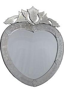 Espelho Veneziano Coração 97X79Cm