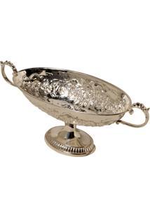 Centro De Mesa Decorativo Com Banho De Prata Trophy Médio