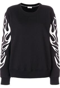 Each X Other Flame Effect Sweatshirt - Preto
