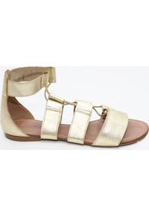 Sandália Top Franca Shoes Gladiadora - Feminino-Dourado