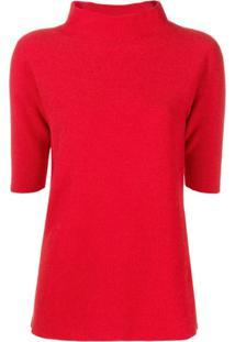 Fabiana Filippi Shortsleeved Sweater - Vermelho