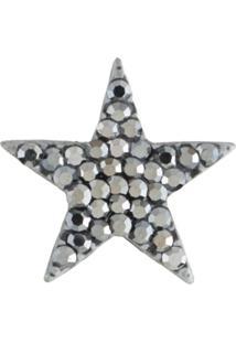 Broche Armazem Rr Bijoux Estrela Pequena Grafite - Kanui